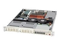 Supermicro Chassis, 1U Rackmount, Dual DC Xeon, ATX, 2 3.5 Bays, 280W PS, Black, CSE-811I-280B, 8082346, Cases - Systems/Servers