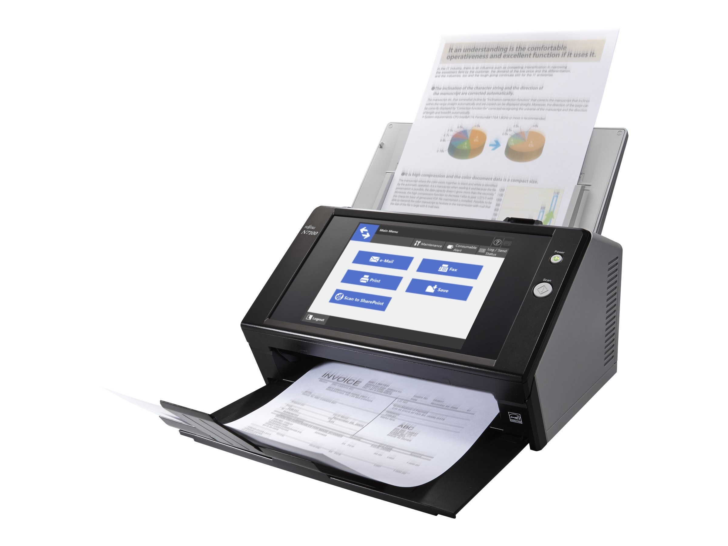 Refurb. Fujitsu N7100 Color Network Scanner, PA03706-B205-R