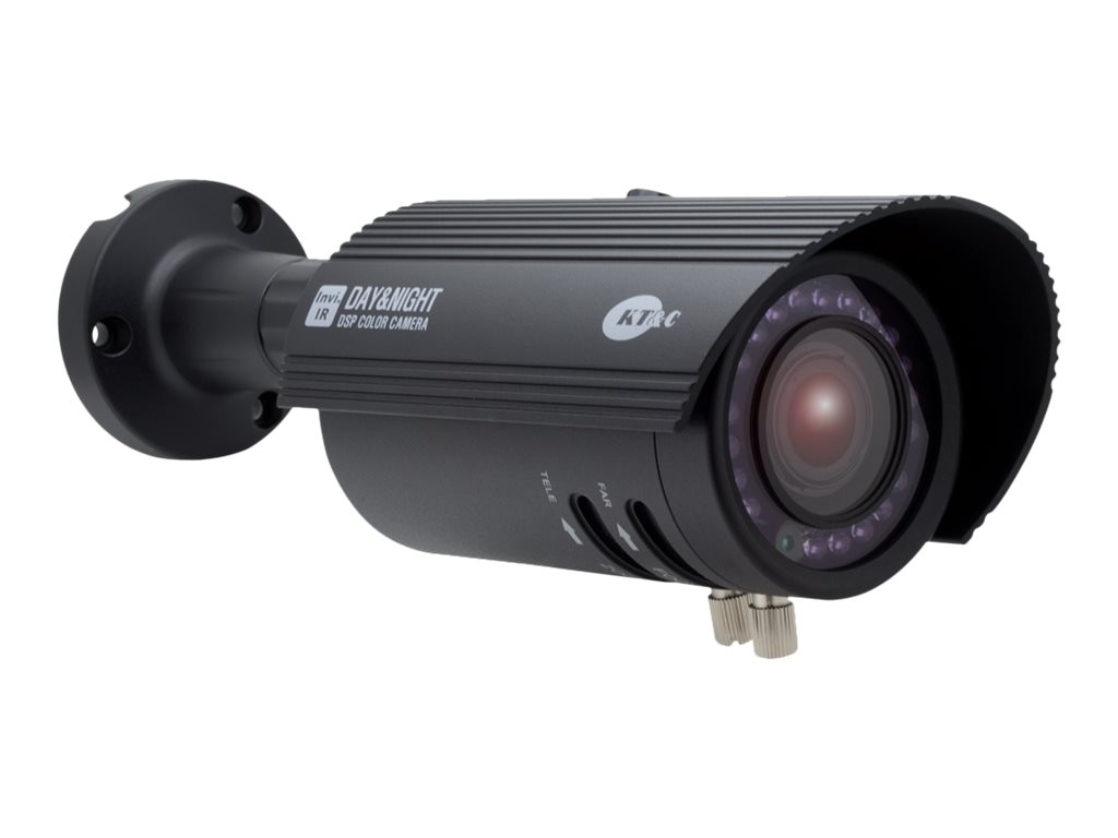 KT&C 750TVL Invisible IR True Day Night Weatherproof Camera with 2.8-12mm Lens, Black