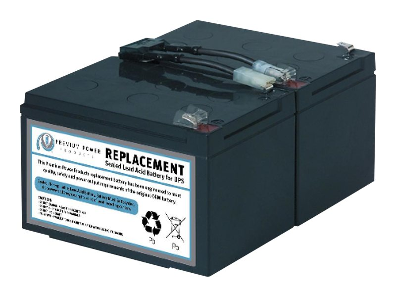 Ereplacements Compatible Sealed Lead Acid Battery Replaces APC RBC6, SLA6-ER
