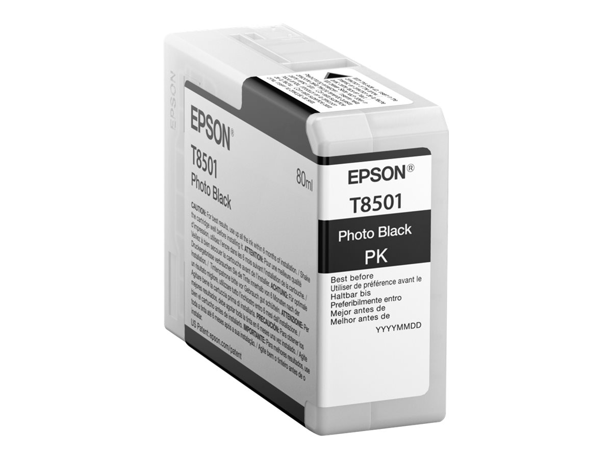 Epson Photo Black UltraChrome HD 80ml Ink Cartridge for SureColor P800, T850100, 24513476, Ink Cartridges & Ink Refill Kits