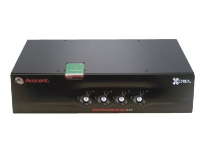 Avocent Switchview SC NIAP EAL4+ Secure 4-Port KVM Switch USB, DH DVI-I