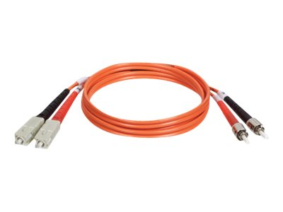 Tripp Lite Fiber Optic Cable, 50 125, Duplex Multimode, SC-ST, 5m, N504-05M, 8277910, Cables