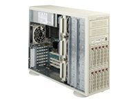 Supermicro Chassis, 4U, SCSI, 10 HD Bays, No CD FDD, 3-Redundant 600W PS, Beige, CSE-942S-600, 4934265, Cases - Systems/Servers
