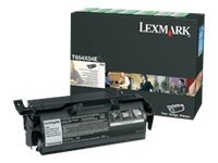 Lexmark Black Extra High Yield Return Program Cartridge for T654 Series Printers' Label Applications, T654X04A, 9163851, Toner and Imaging Components