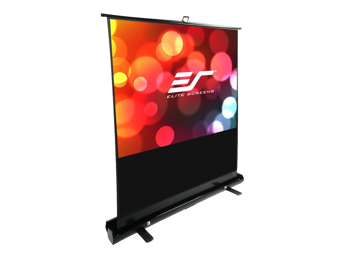 Elite ezCinema Front Projection Floor Screen, MaxWhite, 4:3, 74