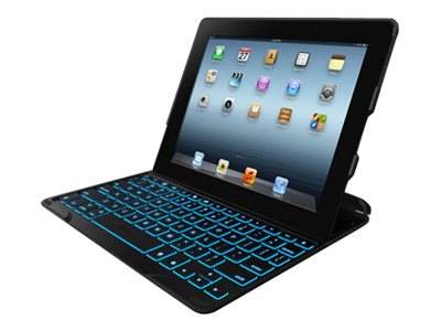 Zagg Keyboard Cover Case Folio for iPad, Black, FOLPROBLKLIT101, 16958951, Keyboards & Keypads