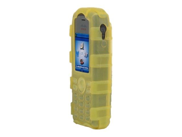 Zcover Silicone Back Open Dock-in-Case for Cisco 7925G 7925G-EX, Yellow, CI925BYL, 16579395, Carrying Cases - Phones/PDAs