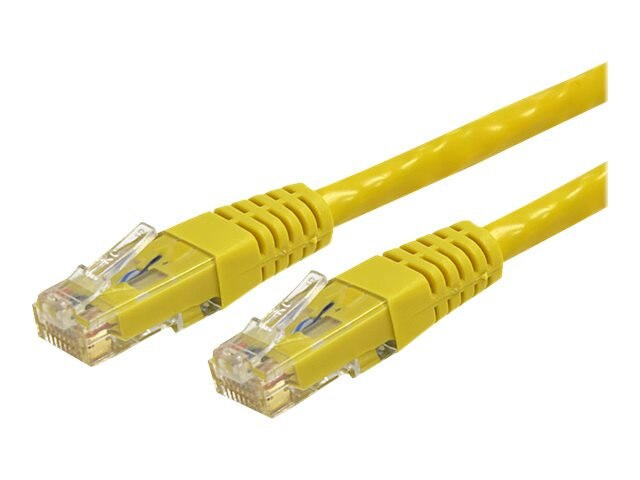 StarTech.com Cat6 UTP 500MHz Gigabit Ethernet Patch Cable, Yellow, Molded, 35ft, C6PATCH35YL