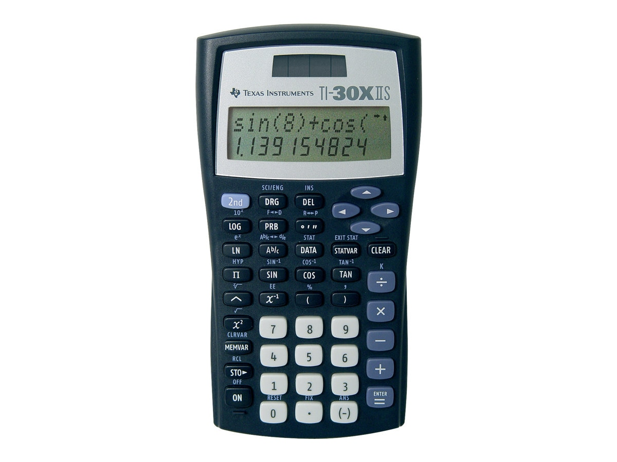 TI TI-30X IIS 2-Line Scientific Calculator, Black, TI-30X-IIS
