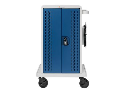 Bretford Manufacturing 36-Unit Chromebook Charging Cart with Swivel Casters, Back Access Panel, CORE36MSBP-CTTZ