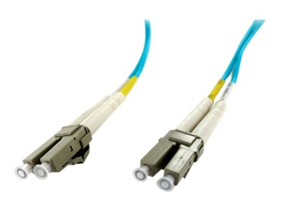 Axiom LC-LC 50 125 OM4 Multimode Fiber Cable, Aqua, 40m, TAA