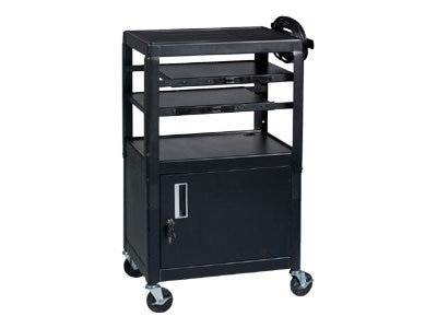 Balt Dual Adjustable Laptop Cart, Black, 89875