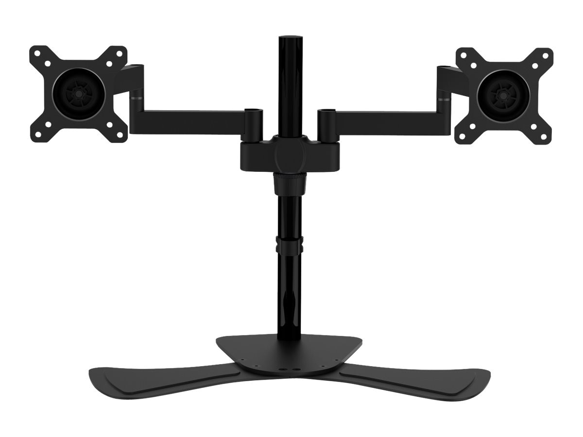 V7 Dual Display Swivel Desk Stand Mount for Displays up to 27