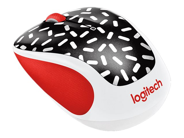Logitech M325c Wireless Optical Mouse, Zig Zag Red