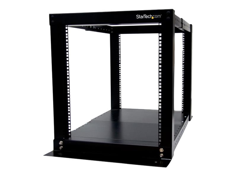 StarTech.com 12U Adjustable 4 Post Server Equipment Open Frame Rack Cabinet, 4POSTRACK12