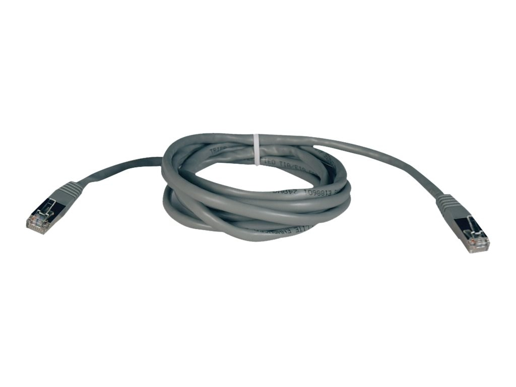 Tripp Lite Cat5e 350MHz Shielded Patch Cable, Gray, 10ft, N105-010-GY