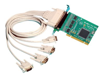 Brainboxes Intashield Low Profile PCIe 4 x RS232 Serial Card