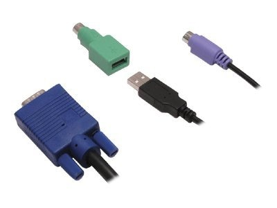 Avocent USB and PS 2 KVM Cable for SwitchView 1000, 9ft, 8-pack, CBL0030-8, 8474403, Cables