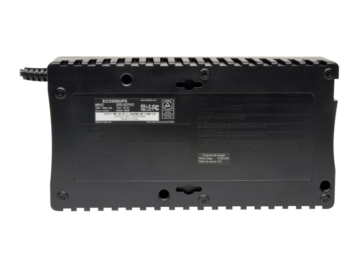 Tripp Lite 550VA UPS Compact Low Profile Standby (8) Outlet with DB9 Port, INTERNET550SER