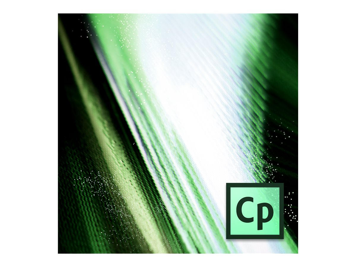 Adobe Corp. TLP Captivate 9.0 Multiple Platforms License 1 user 1100Pt, 65264475AD01A00, 30182669, Software - Programming Tools