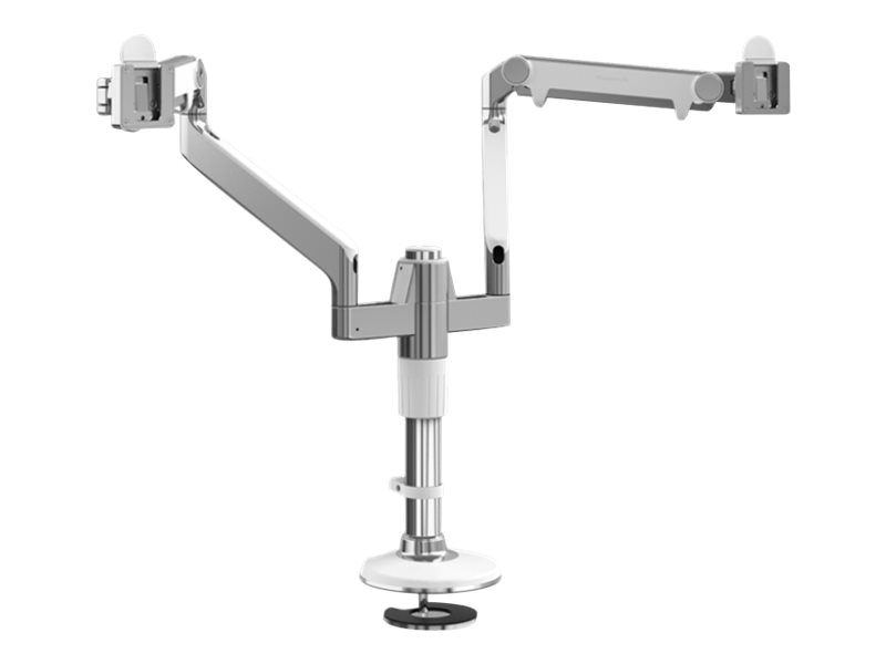 Humanscale MFlex M2 Arm with Dual Display Support, Dual Fixed Angled Link Dynamic Arms, MF22W11B12-IND