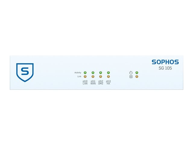 Sophos Corp. SG 105 Security Appliance - US power cord, SG1ATCHUS, 19335610, Network Security Appliances