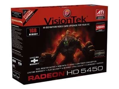 VisionTek Radeon HD 5450 PCIe Graphics Card, 1GB DDR3, 900358, 13243001, Graphics/Video Accelerators