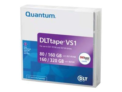 Quantum 80 160GB DLT-VS160 Tape Cartridge (160 320GB w  DLT-V4 Drives), MR-V1MQN-01, 438818, Tape Drive Cartridges & Accessories