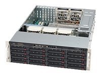 Supermicro 3U Chassis DP16X 3.5 SATA-SAS Bay DVD 710W PSU, CSE-836TQ-R710B, 8858095, Cases - Systems/Servers