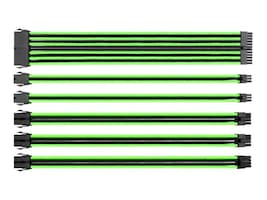 Thermaltake 16AWG Thermaltake TtMod Sleeve Cable Kit, Green Black, AC-034-CN1NAN-A1, 32328342, Cables