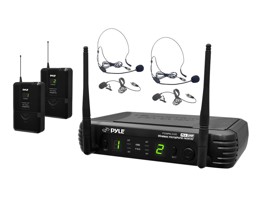 Pyle Premier Series Professional UHF Mic System, PDWM3400