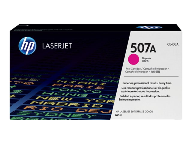 HP 507A Magenta LaserJet Toner Cartridge (TAA Compliant), CE403AG, 15893243, Toner and Imaging Components