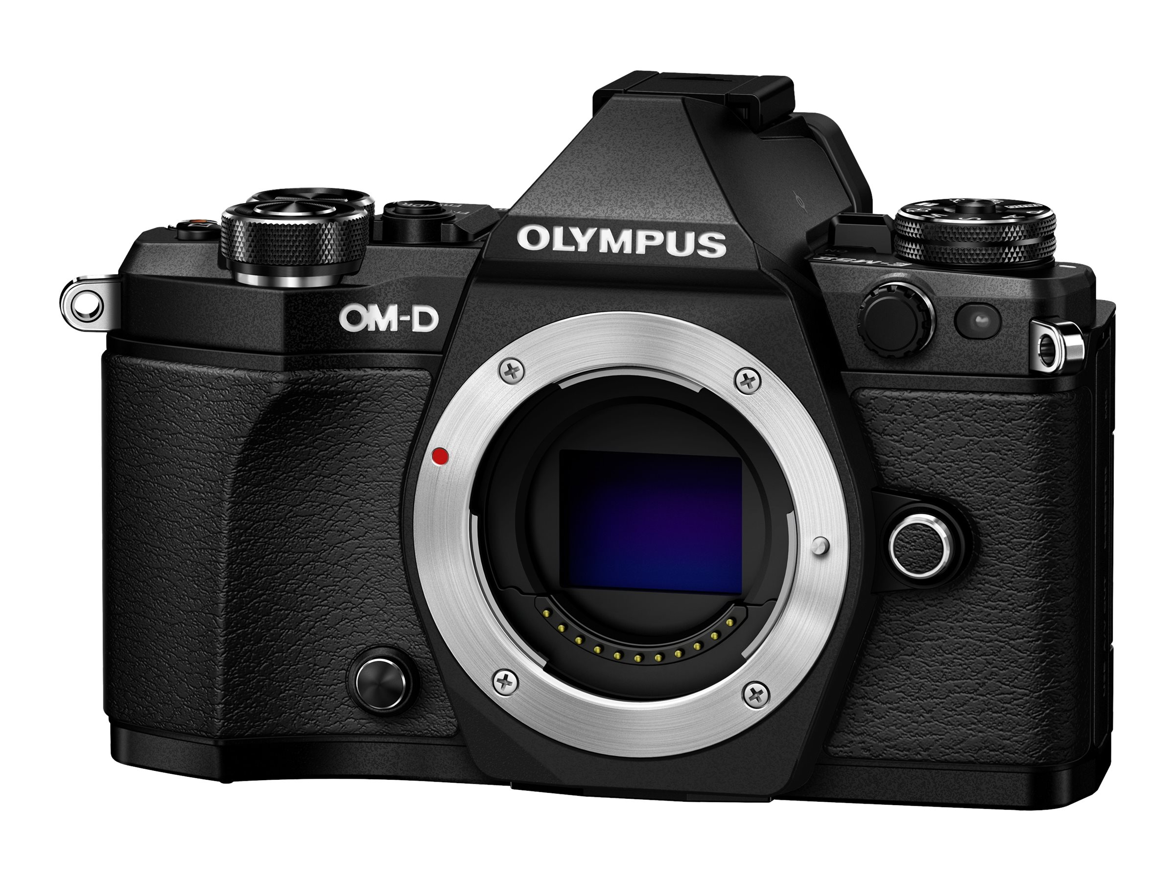 Olympus OM-D E-M5 Mark II Mirrorless Micro Four Thirds Digital, Black (Body Only), V207040BU000, 18478133, Cameras - Digital - SLR
