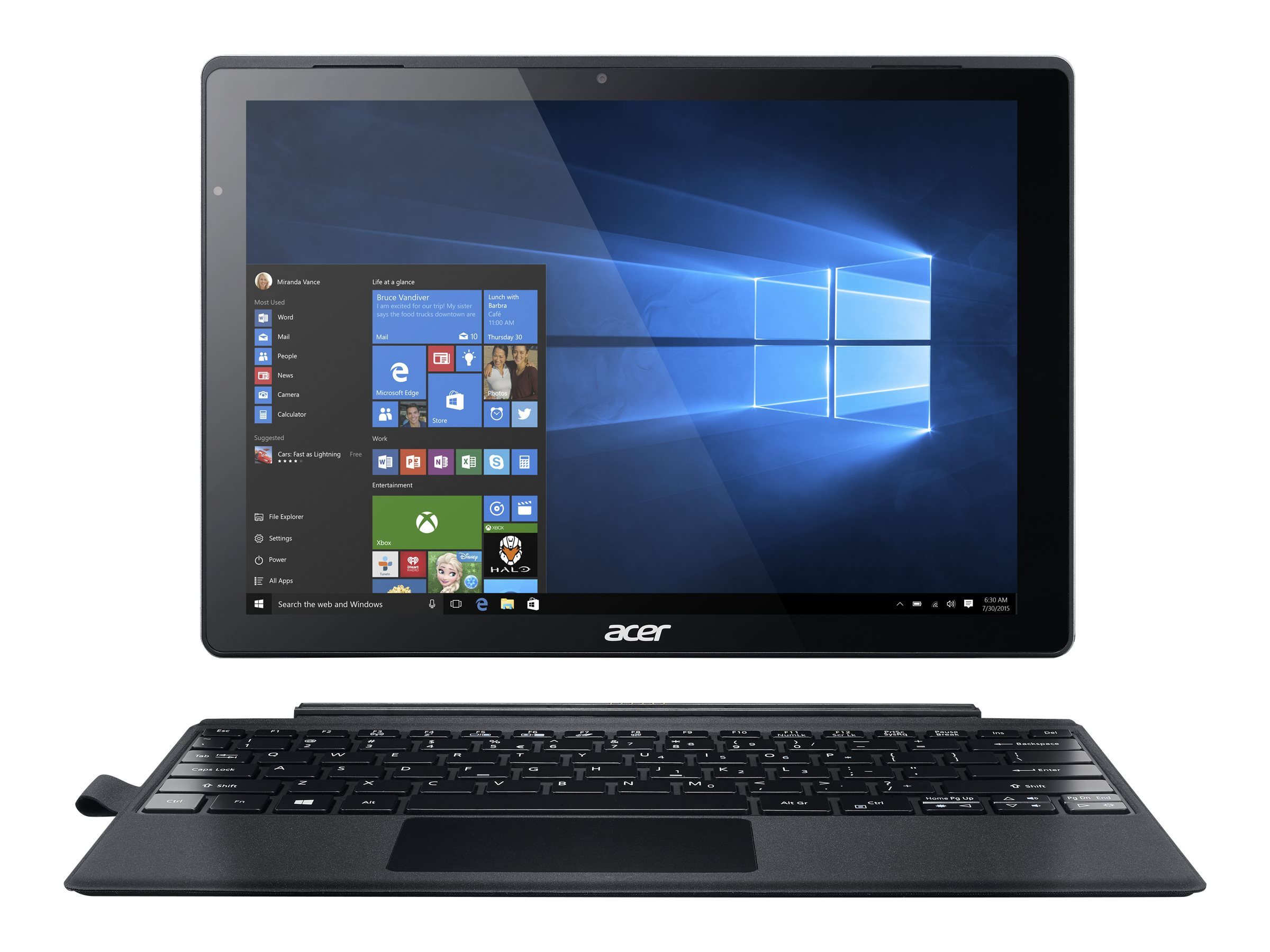 Acer Aspire Switch Alpha 12 SA5-271P-38UZ 2.3GHz processor Windows 10 Pro 64-bit Edition, NT.LCEAA.001