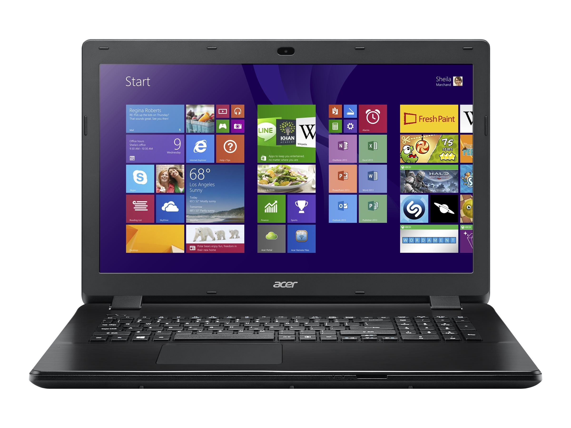 Acer Aspire E5-721-64T8 AMD A6-6310 1.8GHz 6GB 500GB bgn GNIC WC 4C 17.3 HD+ W8.1-64, NX.MNDAA.016, 30608501, Notebooks