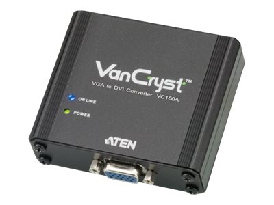 Aten VGA to DVI Converter, VC160A, 14977808, Video Extenders & Splitters
