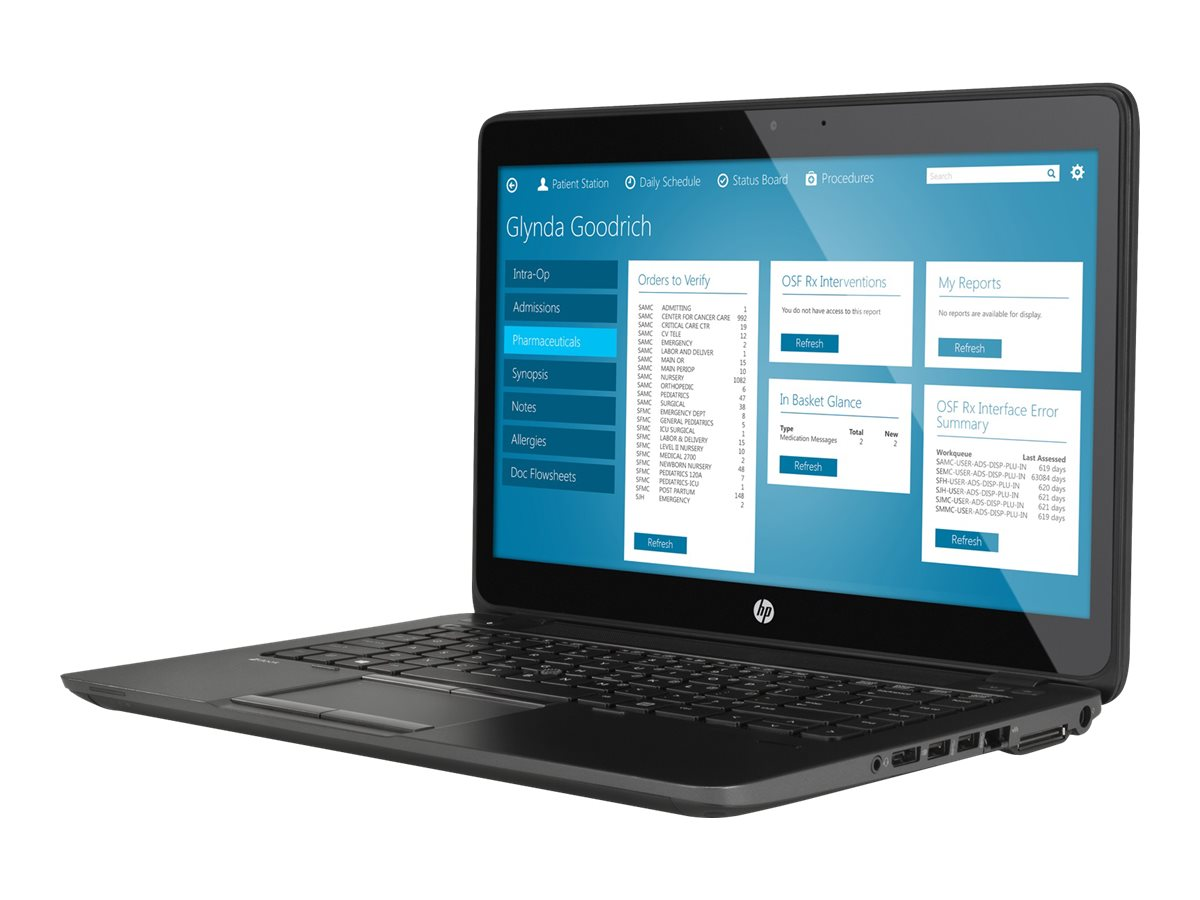 HP ZBook 14 Core i7-5600U 2.6GHz 8GB 256GB SSD abgn BT FR M4150 WC 3C 14 FHD MT W8.1P64