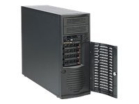 Supermicro Mid-Tower Chassis, 500W Power Supply, Black, CSE-733T-500B, 12909772, Cases - Systems/Servers