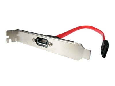 StarTech.com Serial ATA Data Internal to External Slot Plate, Serial ATA 7-pin, M-F, 1ft, SATAPLATE1, 4921229, Cables
