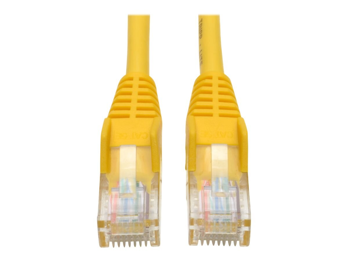 Tripp Lite Cat5e RJ-45 M M Snagless Molded Patch Cable, Yellow, 50ft