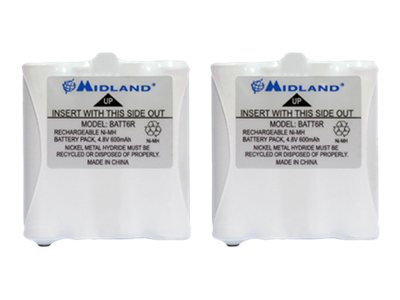 Midland Radio Pair of Rechargeable Batteries for GMRS LXT Series, AVP8