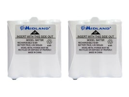 Midland Radio Pair of Rechargeable Batteries for GMRS LXT Series, AVP8, 32837391, Batteries - Other