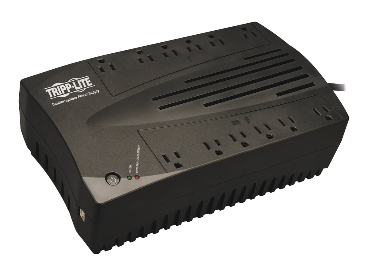 Tripp Lite AVR Series 750VA 450W Ultra-Compact Line Interactive 120V UPS, (12) Outlets, USB Port, TAA Compliant