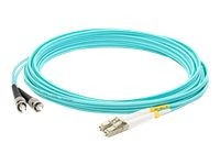 ACP-EP 3M Fiber Optic LOMM OM4 Male ST LC 50 125 Duplex Cable, Aqua