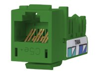 Hubbell SPEEDGAIN Xcelerator category 5E jacks, Green, single, HXJ5EGN, 12184142, Premise Wiring Equipment
