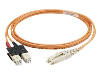 Panduit ST-ST 62.5 125 OM1 Multimode Duplex Riser Fiber Cable, 5m