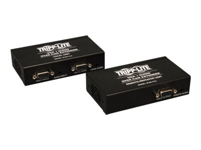 Tripp Lite VGA with Audio over Cat5 Cat6 Extender, Transmitter and Repeater, 1920x1440 at 60Hz, B130-111A, 12909983, Video Extenders & Splitters