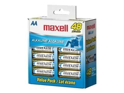 Maxell AA Cell (48-pack, min order quantity of 6), 723443, 11140252, Batteries - Other