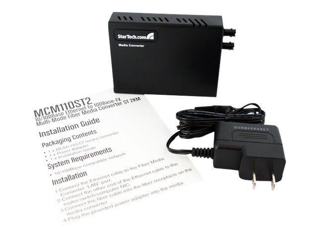 StarTech.com FE RJ-45 to ST MM Fiber Copper Media Converter
